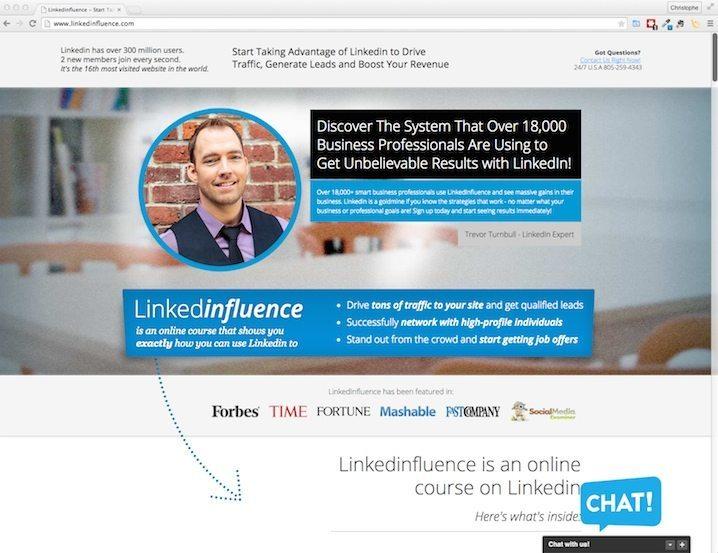 Ontdek LinkedInfluence, een interessante cursus over LinkedIn. Deze prachtige landingspagina werd gemaakt met LeadPages.