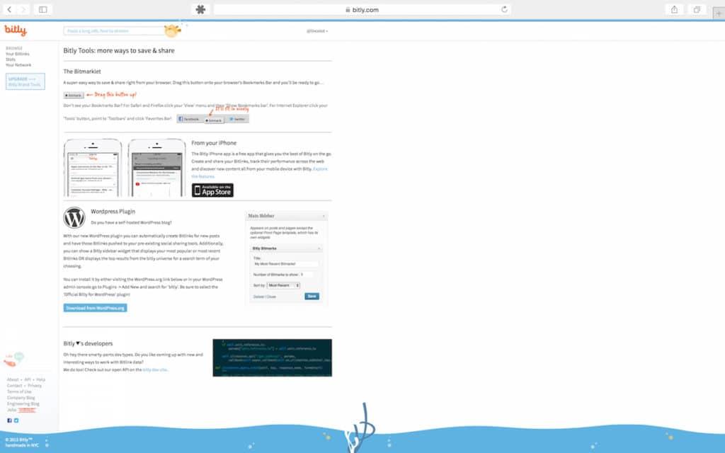 Gebruik de gratis tools van Bitly om je links te verkorten en te delen!