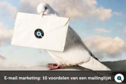 E-mail marketing - 10 voordelen van een mailinglijst