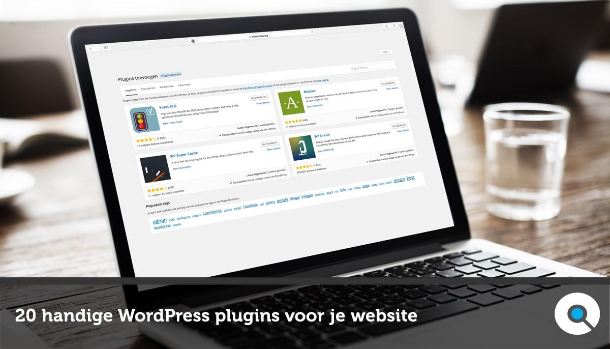 20 handige WordPress plugins voor je website FB