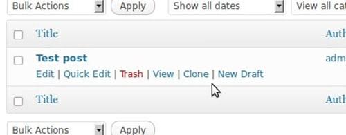 Duplicate post - WordPress Plugins
