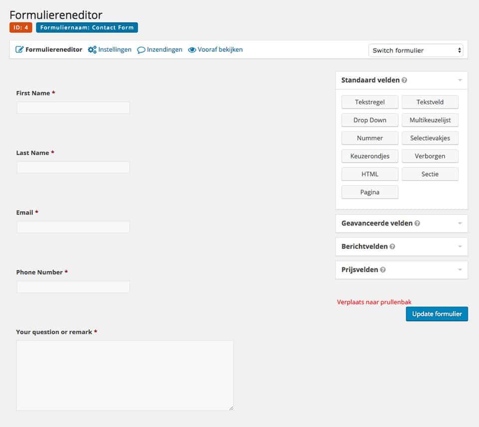 Gravity forms - WordPress plugins