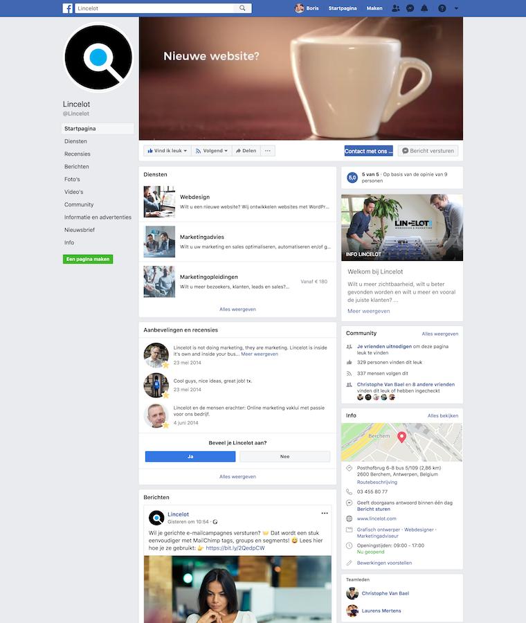 facebook-bedrijfspagina-van-lincelot
