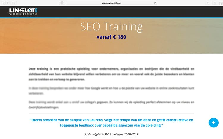 Testimonial - SEO Training