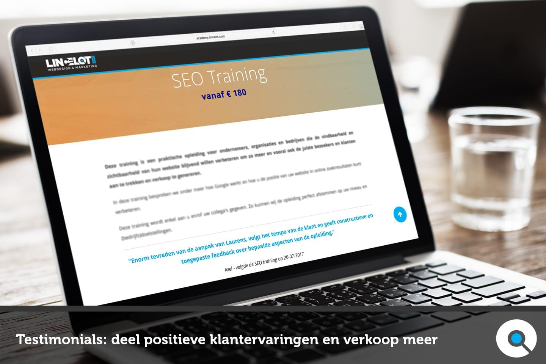 Testimonials - deel positieve klantervaringen en verkoop meer