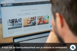 9 tips om de betrouwbaarheid van je website te verbeteren - Lincelot - FI