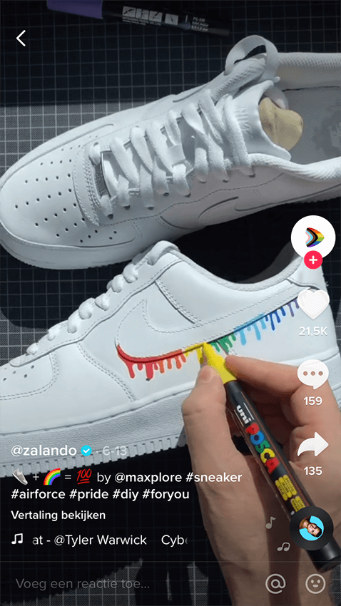 Screenshot Zalando 2 - TikTok marketing - Lincelot