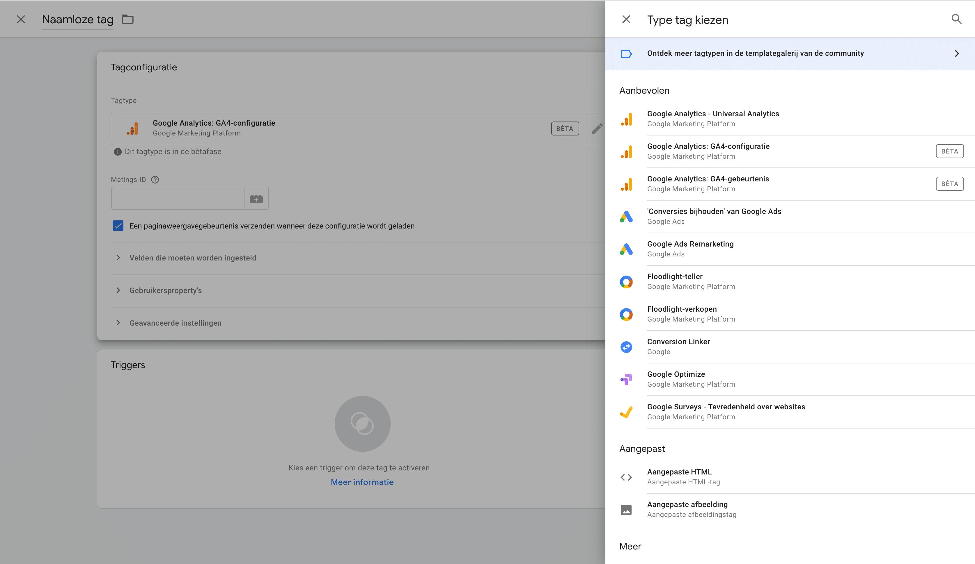 4. Tag personaliseren - Lincelot ga4 - Google Tag Manager
